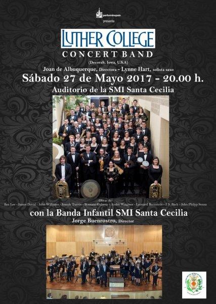 Concierto en Cullera de la Luther Concert Band y la Banda Infantil SMI Santa Cecilia