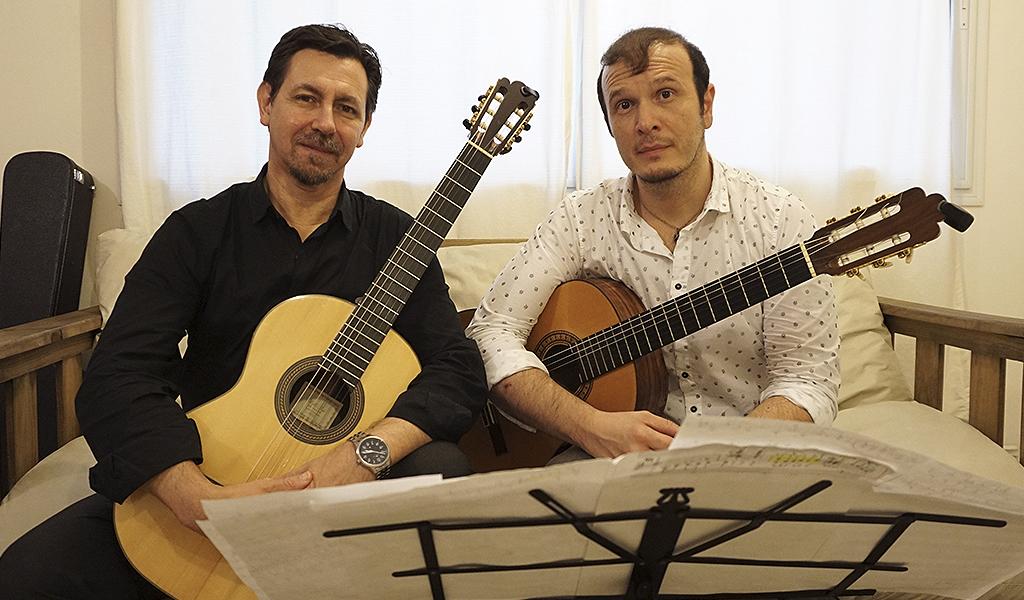 Pablo de Giusto y Carlos Eugenio Santi, dos importantes referentes de la guitarra española, organizadores