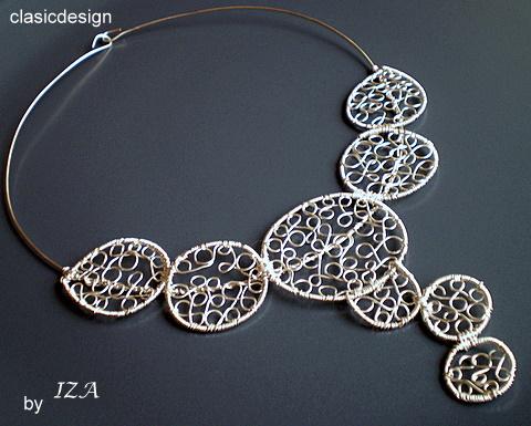 colier argint handmade