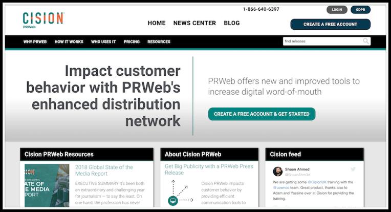 PRWeb distribution