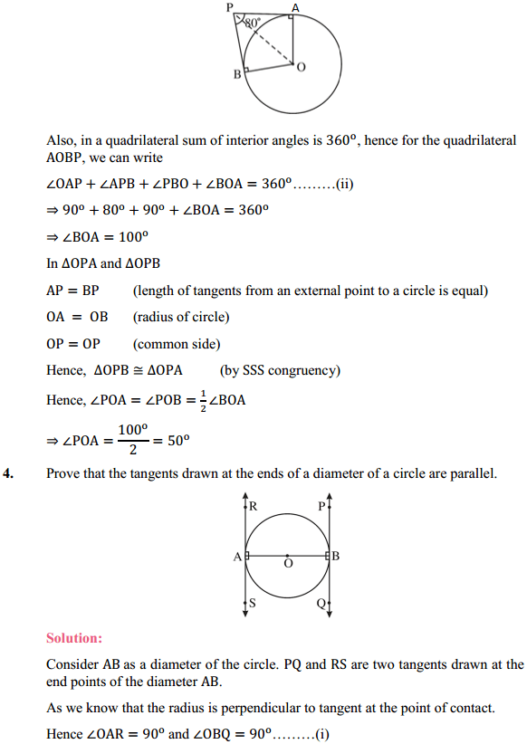 NCERT Solutions for Class 10 Maths Chapter 10 Circles Ex 10.2 3