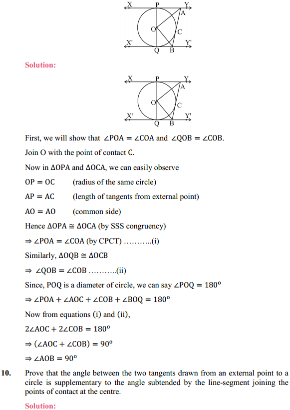 NCERT Solutions for Class 10 Maths Chapter 10 Circles Ex 10.2 7