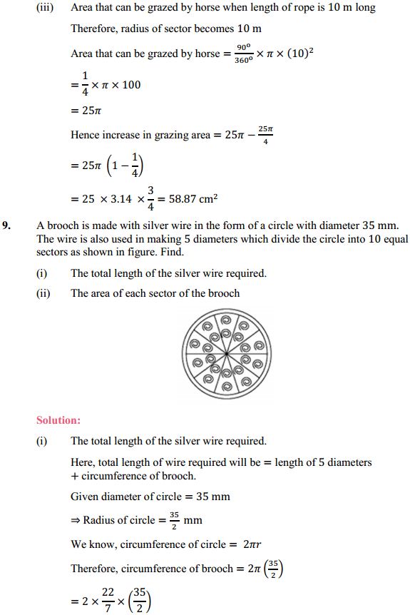 NCERT Solutions for Class 10 Maths Chapter 12 Areas Related to Circles Ex 12.2 10
