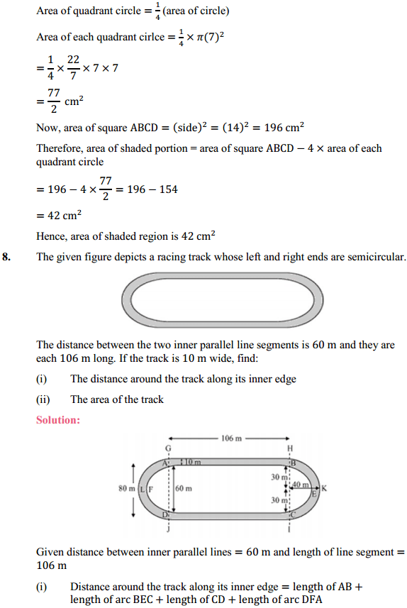 NCERT Solutions for Class 10 Maths Chapter 12 Areas Related to Circles Ex 12.3 9