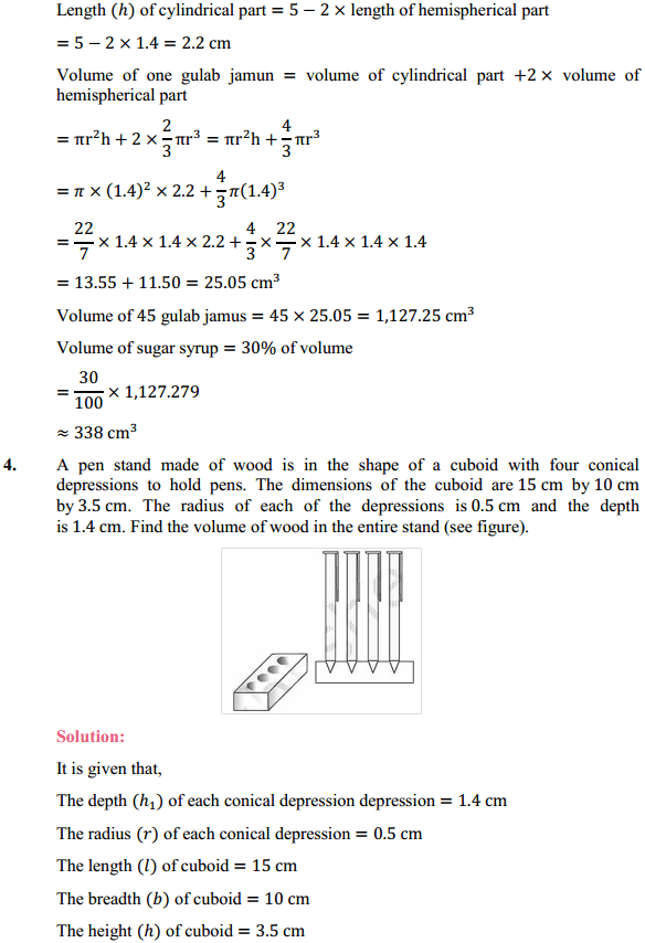 NCERT Solutions for Class 10 Maths Chapter 13 Surface Areas and Volumes Ex 13.2 4