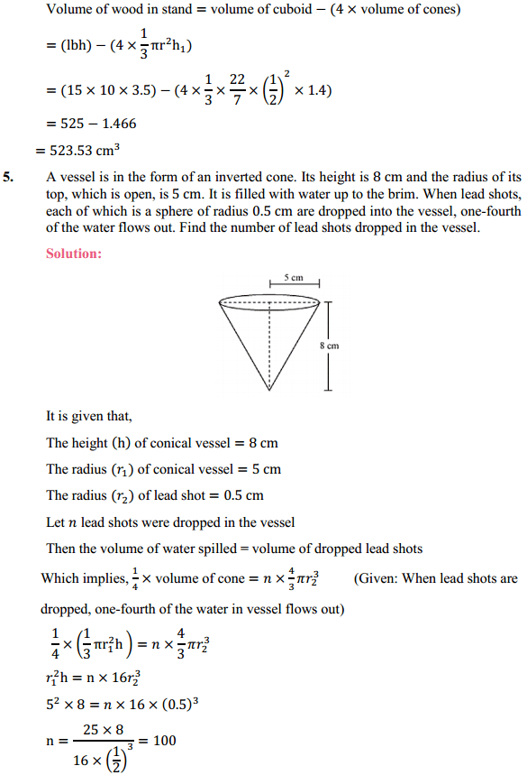 NCERT Solutions for Class 10 Maths Chapter 13 Surface Areas and Volumes Ex 13.2 5