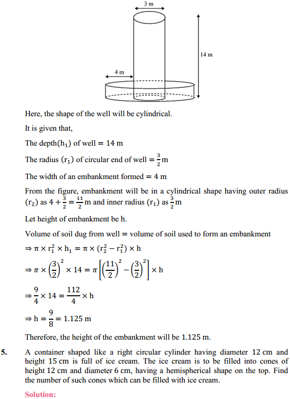 NCERT Solutions for Class 10 Maths Chapter 13 Surface Areas and Volumes Ex 13.3 4