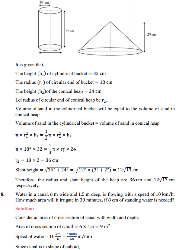NCERT Solutions for Class 10 Maths Chapter 13 Surface Areas and Volumes Ex 13.3 7