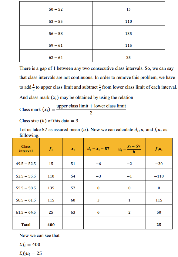 NCERT Solutions for Class 10 Maths Chapter 14 Statistics Ex 14.1 6