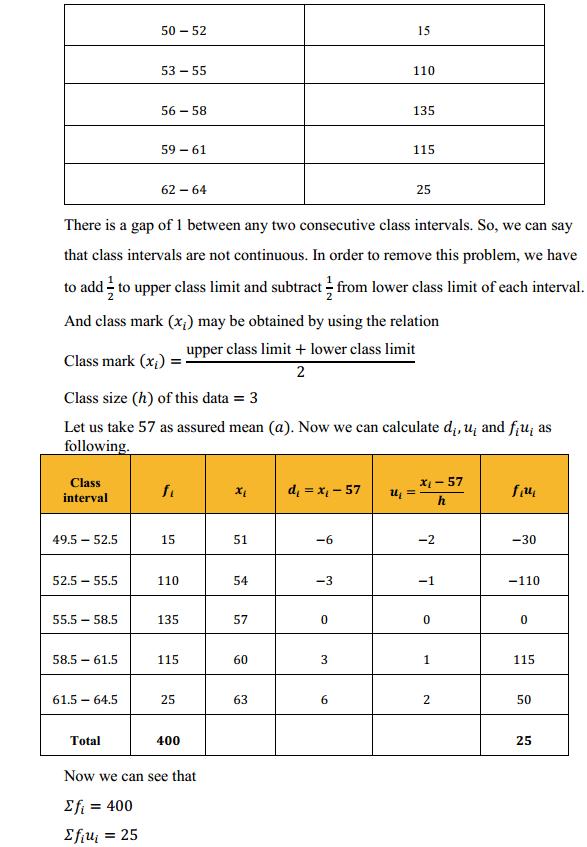 NCERT Solutions for Class 10 Maths Chapter 14 Statistics Ex 14.1 6