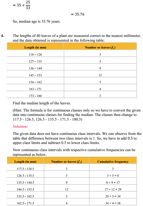 NCERT Solutions for Class 10 Maths Chapter 14 Statistics Ex 14.3 6