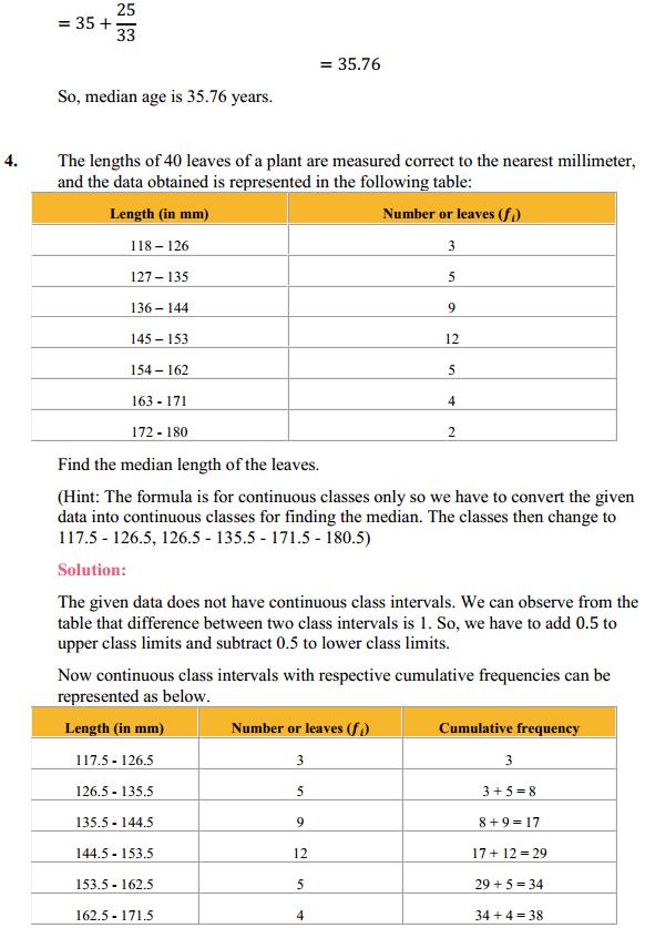 NCERT Solutions for Class 10 Maths Chapter 14 Statistics Ex 14.3 6