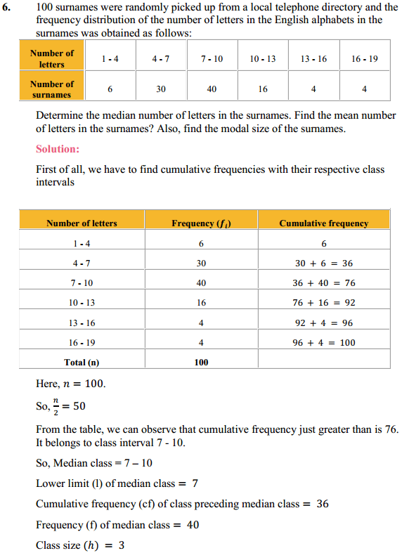 NCERT Solutions for Class 10 Maths Chapter 14 Statistics Ex 14.3 9