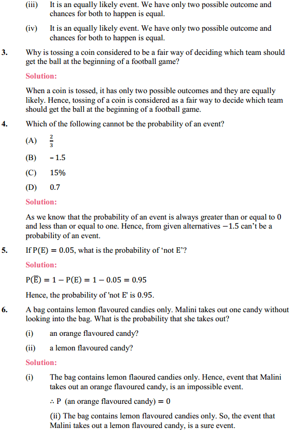 NCERT Solutions for Class 10 Maths Chapter 15 Probability Ex 15.1 2