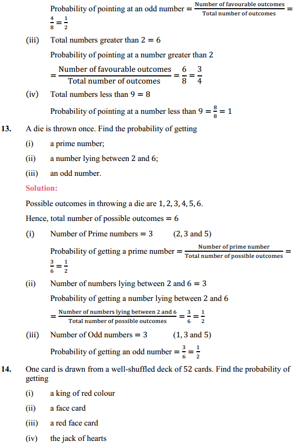 NCERT Solutions for Class 10 Maths Chapter 15 Probability Ex 15.1 6