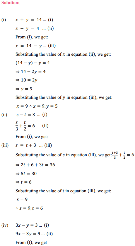 NCERT Solutions for Class 10 Maths Chapter 3 Pair of Linear Equations in Two Variables Ex 3.3 2