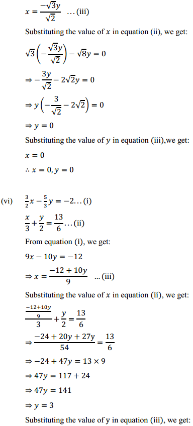 NCERT Solutions for Class 10 Maths Chapter 3 Pair of Linear Equations in Two Variables Ex 3.3 4
