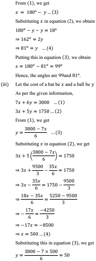 NCERT Solutions for Class 10 Maths Chapter 3 Pair of Linear Equations in Two Variables Ex 3.3 7