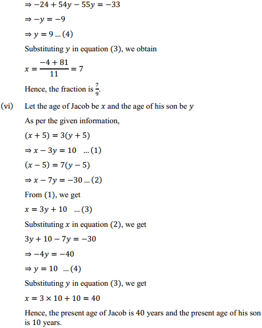 NCERT Solutions for Class 10 Maths Chapter 3 Pair of Linear Equations in Two Variables Ex 3.3 9