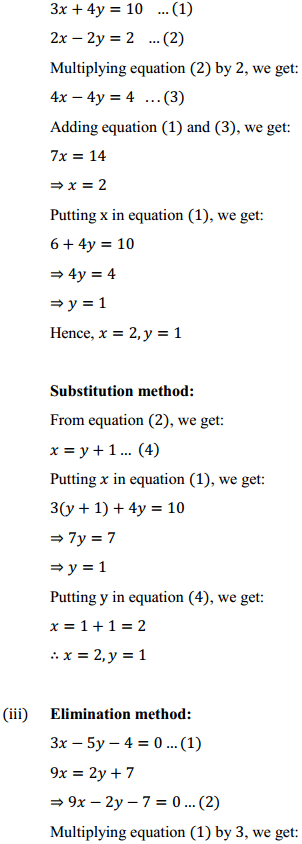 NCERT Solutions for Class 10 Maths Chapter 3 Pair of Linear Equations in Two Variables Ex 3.4 3