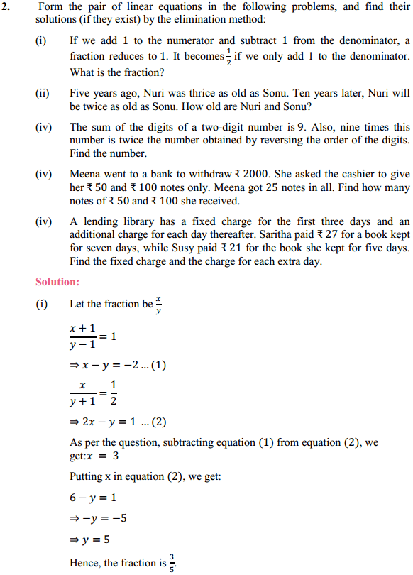 NCERT Solutions for Class 10 Maths Chapter 3 Pair of Linear Equations in Two Variables Ex 3.4 6