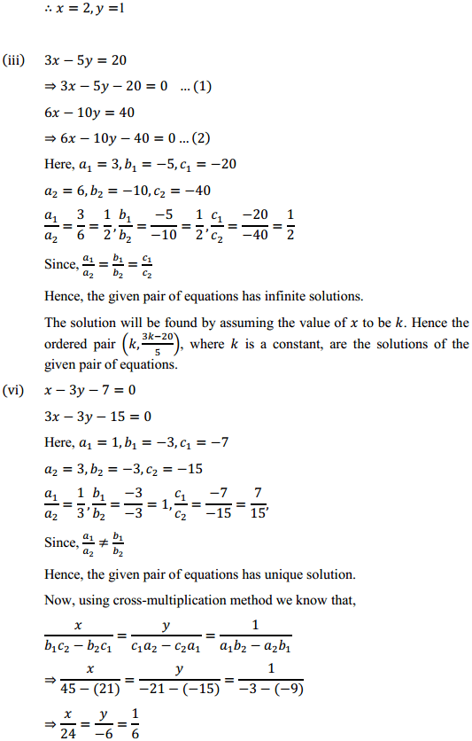 NCERT Solutions for Class 10 Maths Chapter 3 Pair of Linear Equations in Two Variables Ex 3.5 3