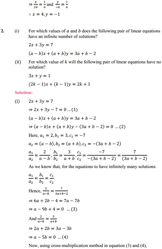 NCERT Solutions for Class 10 Maths Chapter 3 Pair of Linear Equations in Two Variables Ex 3.5 4