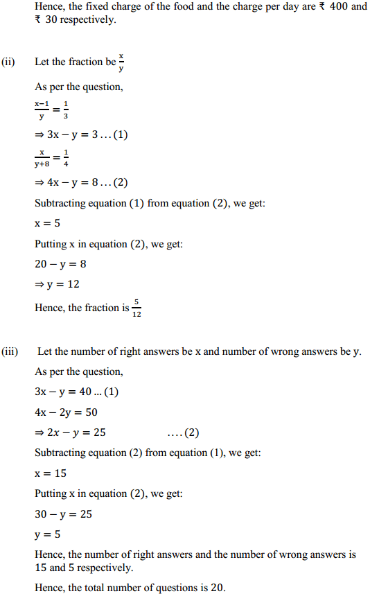 NCERT Solutions for Class 10 Maths Chapter 3 Pair of Linear Equations in Two Variables Ex 3.5 8
