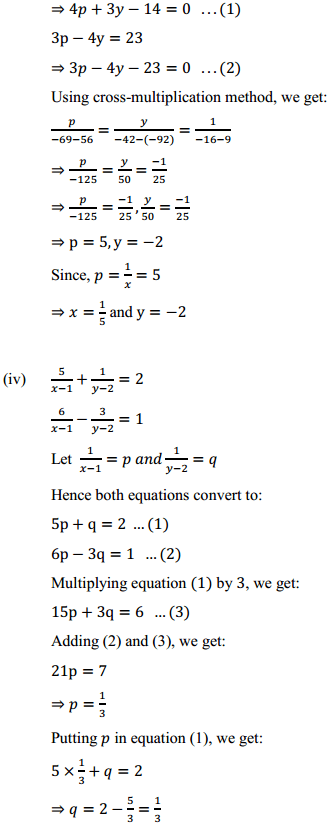NCERT Solutions for Class 10 Maths Chapter 3 Pair of Linear Equations in Two Variables Ex 3.6 4