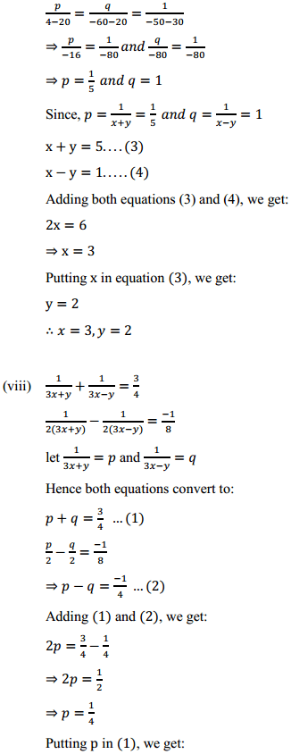 NCERT Solutions for Class 10 Maths Chapter 3 Pair of Linear Equations in Two Variables Ex 3.6 7