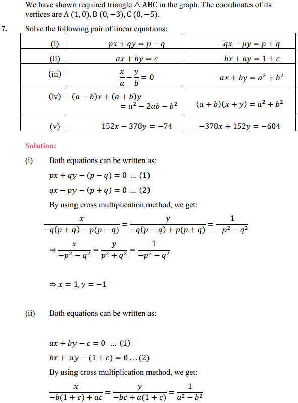 NCERT Solutions for Class 10 Maths Chapter 3 Pair of Linear Equations in Two Variables Ex 3.7 7