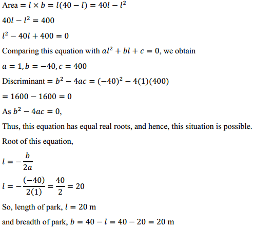 NCERT Solutions for Class 10 Maths Chapter 4 Quadratic Equations Ex 4.4 5