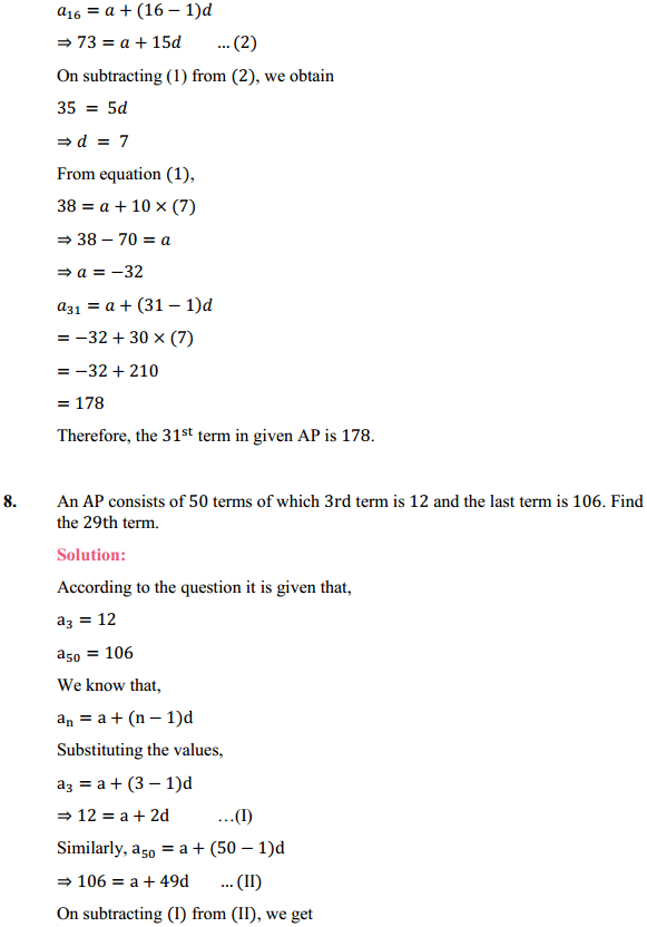 NCERT Solutions for Class 10 Maths Chapter 5 Arithmetic Progressions Ex 5.2 11