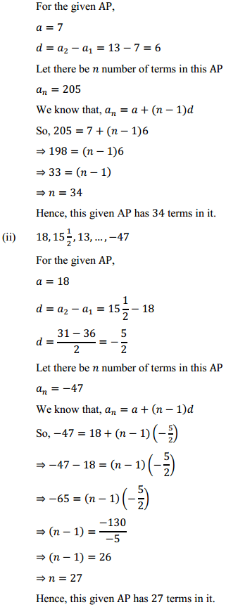 NCERT Solutions for Class 10 Maths Chapter 5 Arithmetic Progressions Ex 5.2 9
