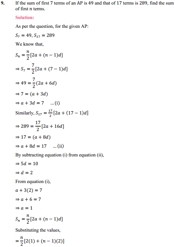 NCERT Solutions for Class 10 Maths Chapter 5 Arithmetic Progressions Ex 5.3 16