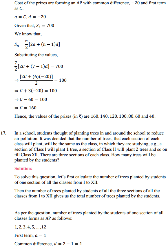 NCERT Solutions for Class 10 Maths Chapter 5 Arithmetic Progressions Ex 5.3 22