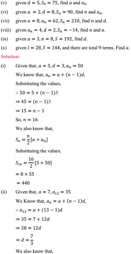 NCERT Solutions for Class 10 Maths Chapter 5 Arithmetic Progressions Ex 5.3 6