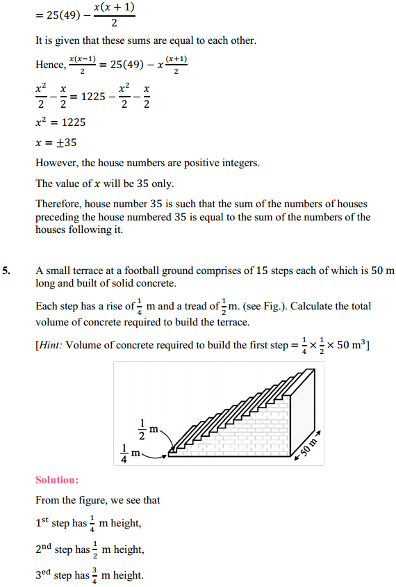 NCERT Solutions for Class 10 Maths Chapter 5 Arithmetic Progressions Ex 5.4 5