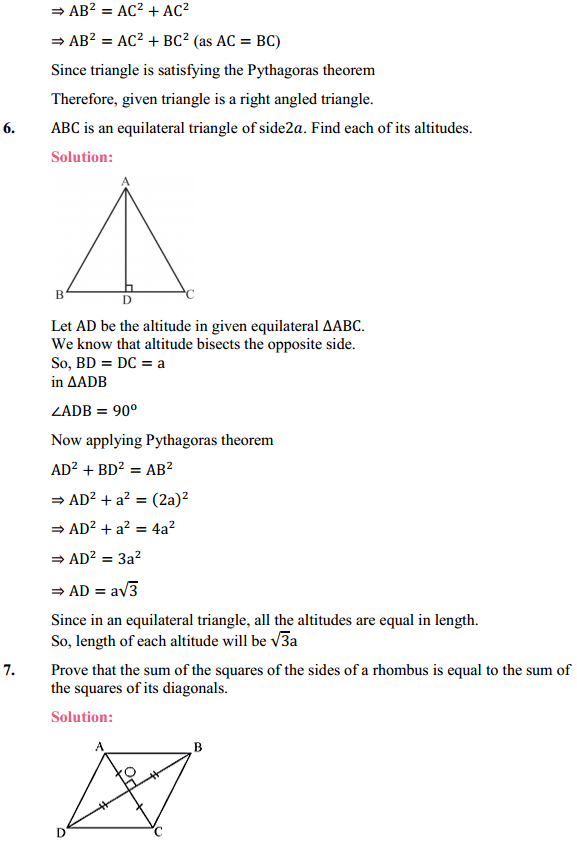 NCERT Solutions for Class 10 Maths Chapter 6 Triangles Ex 6.5 5