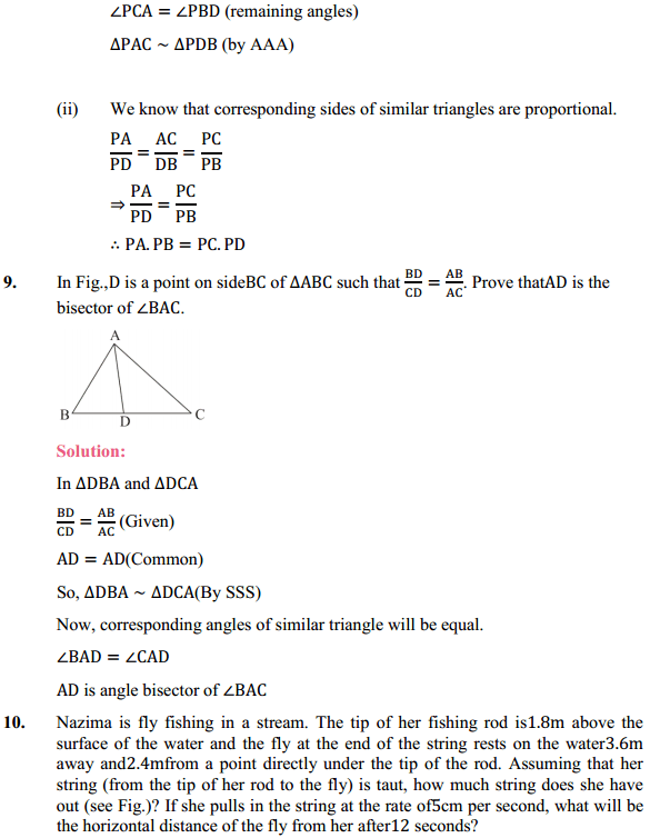NCERT Solutions for Class 10 Maths Chapter 6 Triangles Ex 6.6 10