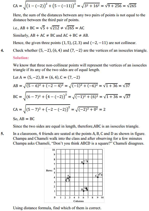 NCERT Solutions for Class 10 Maths Chapter 7 Coordinate Geometry Ex 7.1 3