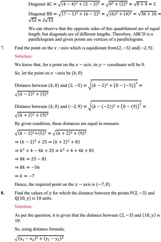 NCERT Solutions for Class 10 Maths Chapter 7 Coordinate Geometry Ex 7.1 6