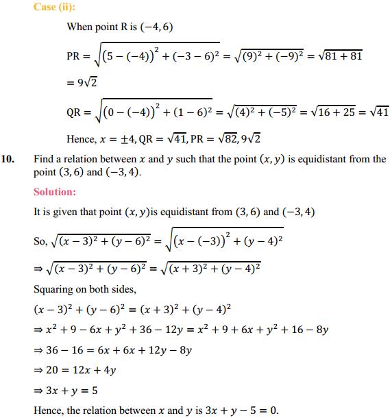 NCERT Solutions for Class 10 Maths Chapter 7 Coordinate Geometry Ex 7.1 8