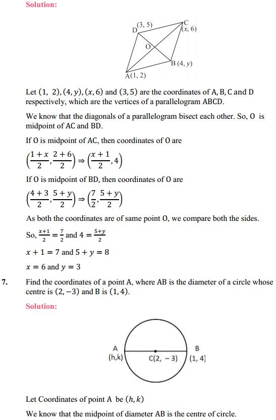 NCERT Solutions for Class 10 Maths Chapter 7 Coordinate Geometry Ex 7.2 6