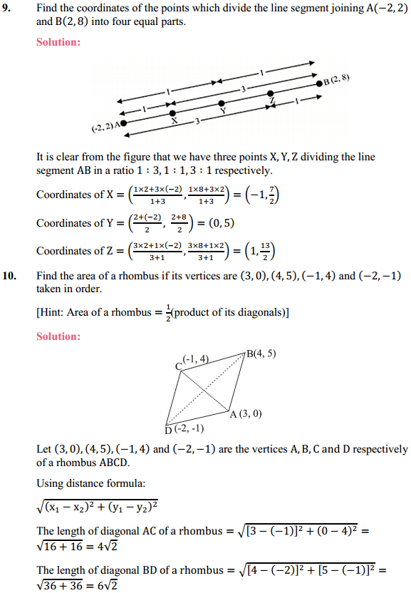 NCERT Solutions for Class 10 Maths Chapter 7 Coordinate Geometry Ex 7.2 8