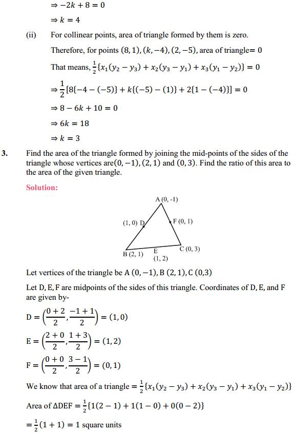 NCERT Solutions for Class 10 Maths Chapter 7 Coordinate Geometry Ex 7.3 2
