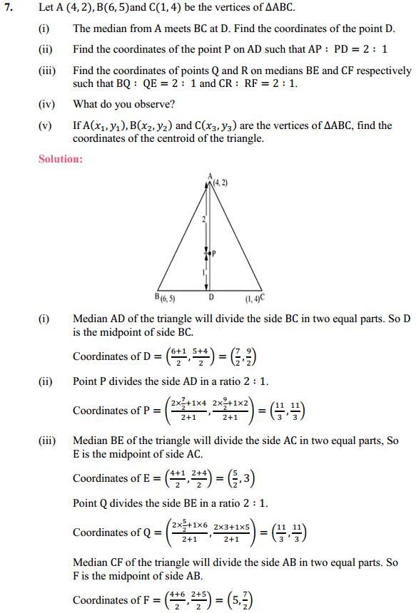 NCERT Solutions for Class 10 Maths Chapter 7 Coordinate Geometry Ex 7.4 7