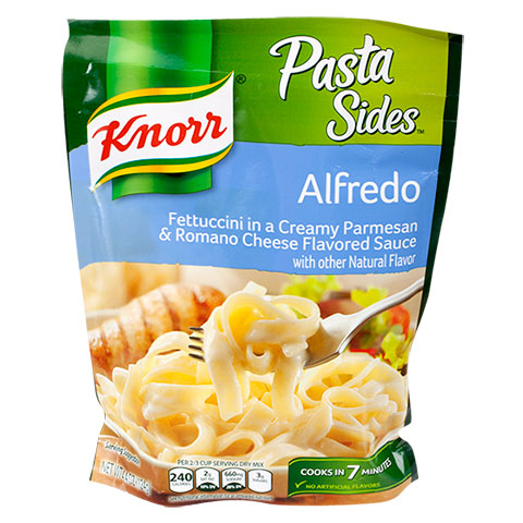 Knorr Pasta Sides Alfredo Products Underfilled By 40%, Class Action Says