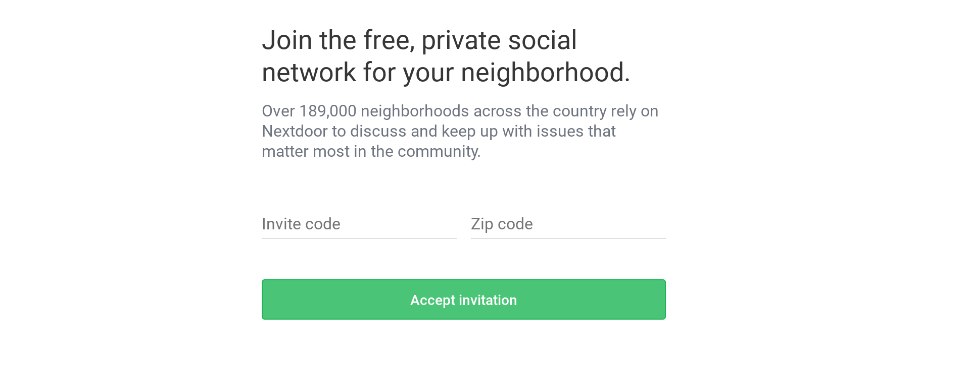 nextdoor.com/join invite code