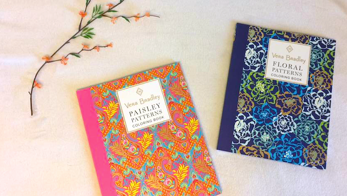 Vera Bradley Coloring Books Add Some Prep To Your Carry On